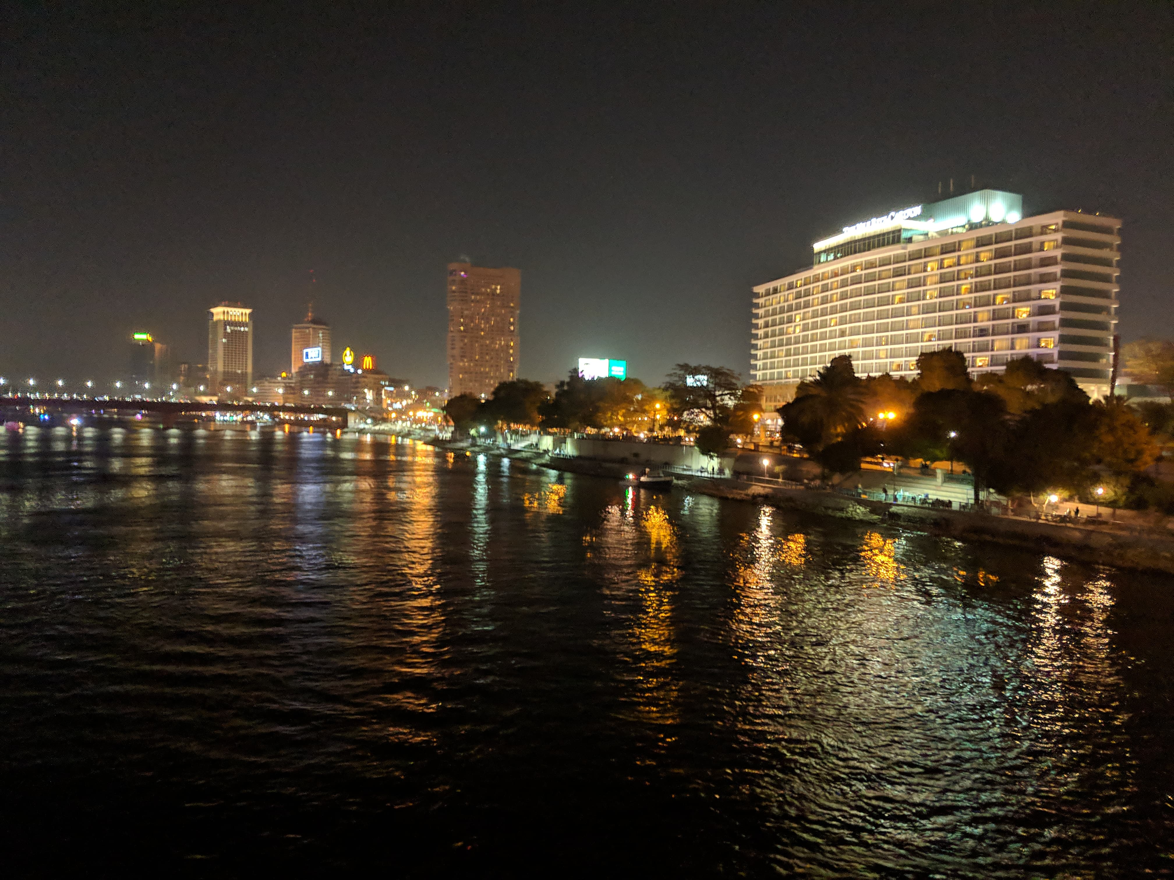 The Nile at night