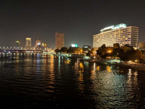 The Nile at night